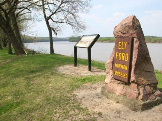 Ely Ford, located within Lacey-Keosauqua State Park, now the site of a beautiful picnic area, was a river crossing point.