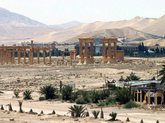 This file photo released on Sunday, May 17, 2015, by the Syrian official news agency SANA, shows the general view of the ancient Roman city of Palmyra, northeast of Damascus, Syria. Islamic State militants have blown up one of the most important temples in the ancient Syrian city of Palmyra.