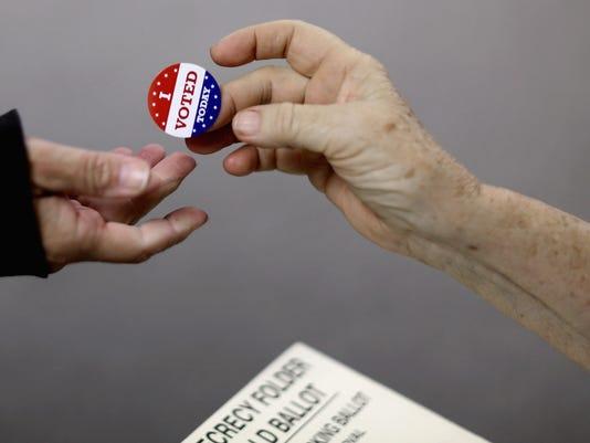 GOP Senate Candidate Jodi Ernst Casts Her Vote In Her Iowa Hometown