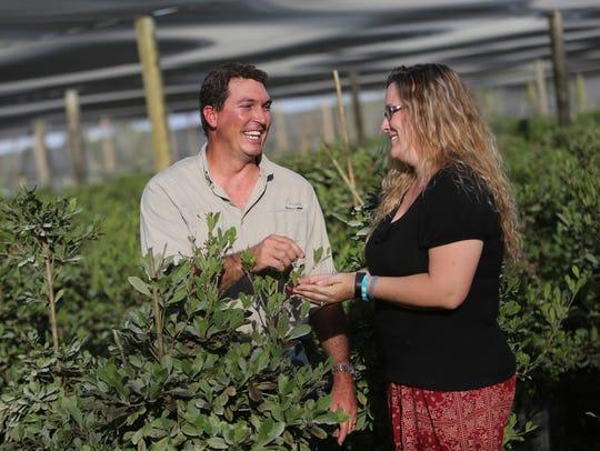 Erik Tietig shares a laugh with Miracle Fruit customer