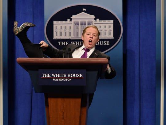 Melissa McCarthy as Trump press secretary Sean Spicer
