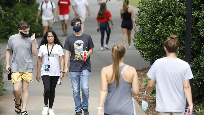 University of Georgia students on campus last week during the first day of fall semester.