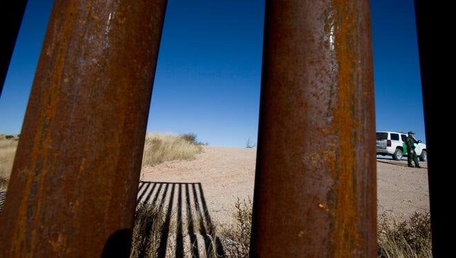 The Arizona-Mexico border.