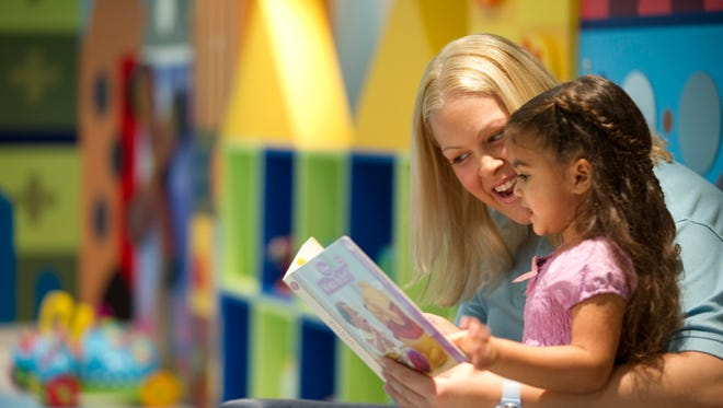 Activities in the It's A Small World Nursery include storytelling, crafts and movies.