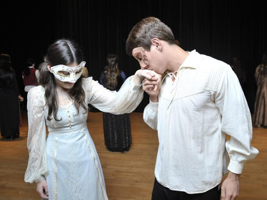 """Sophie Miller (Juliet) and Hector Delgadillo (Romero) star in Tulare Union High School production of """"Romeo and Juliet."""""""