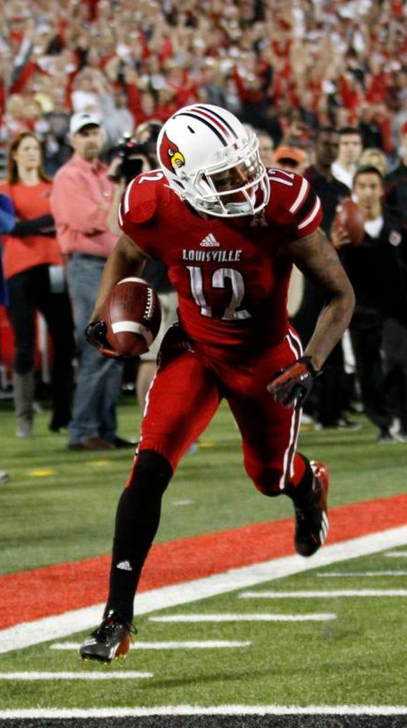 University of Louisville wide receiver Kai De La Cruz