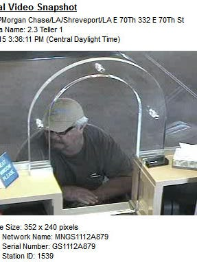 Surveillance footage captured the man who attempted to rob the Chase Bank Tuesday.