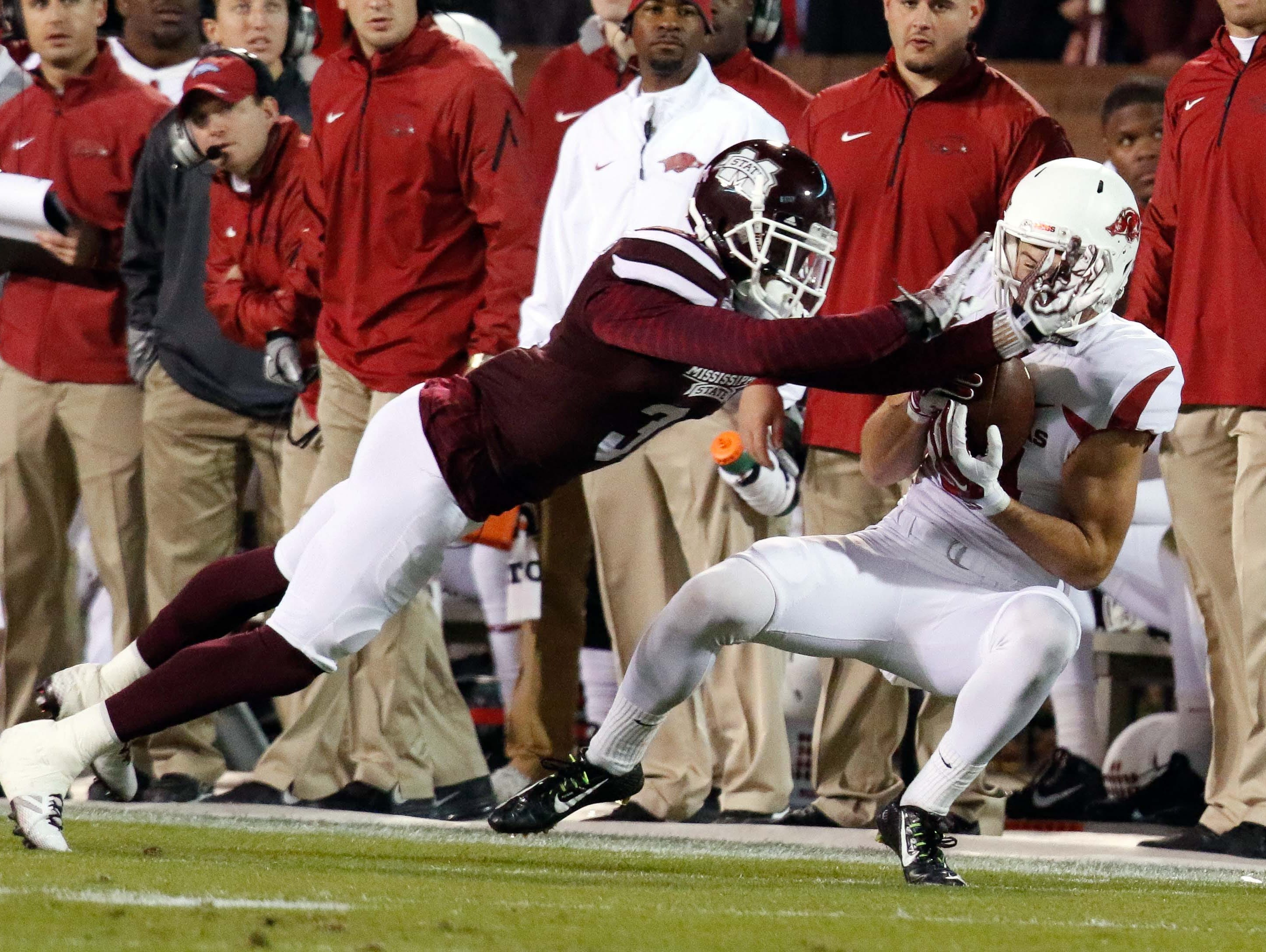 Arkansas Razorbacks wide receiver Cody Hollister, shown in this 2014 file photo, had foot surgery on Wednesday.