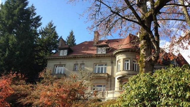 The Pittock Mansion Trail ends at the famous landmark.