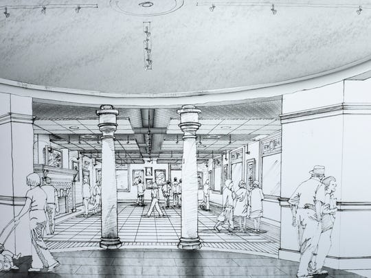 An artists sketch of potential renovations at the Port Huron Museum. The museum has launched a $250,000 'Carnegie Reimagined' campaign to renovate the interior of the facility.