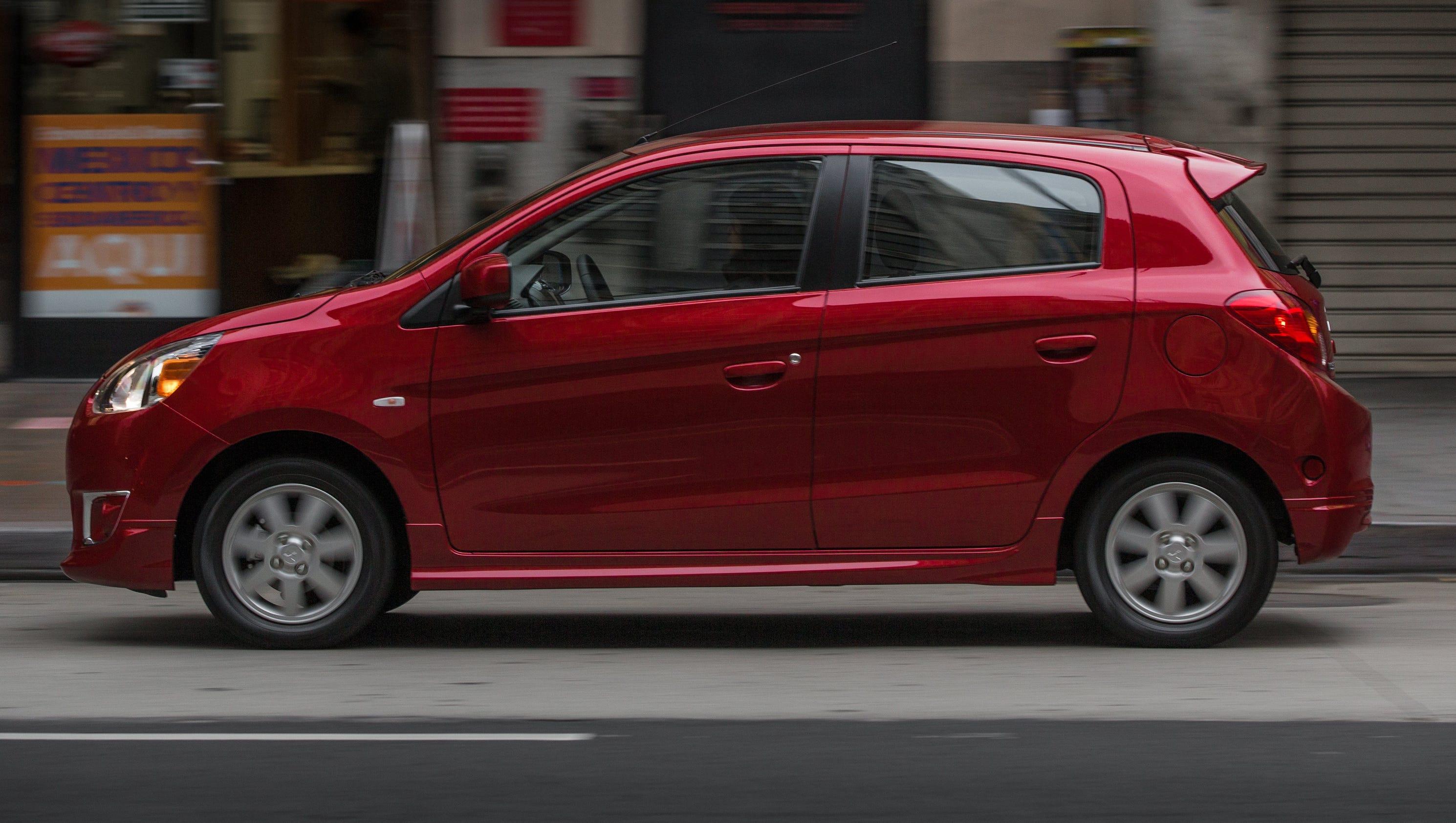 Mitsubishi 3-cyl. Mirage rated 44 mpg, starts at $13,790