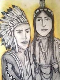 "Andrew Scott, a Kirtland Central High School freshman, won this year's Congressional Art Competition for his piece ""Natives."""