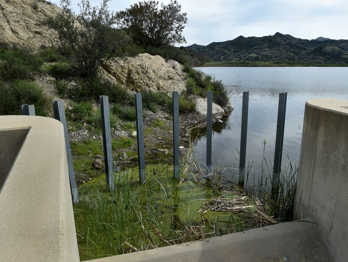 The Las Virgenes Municipal Water District reservoir