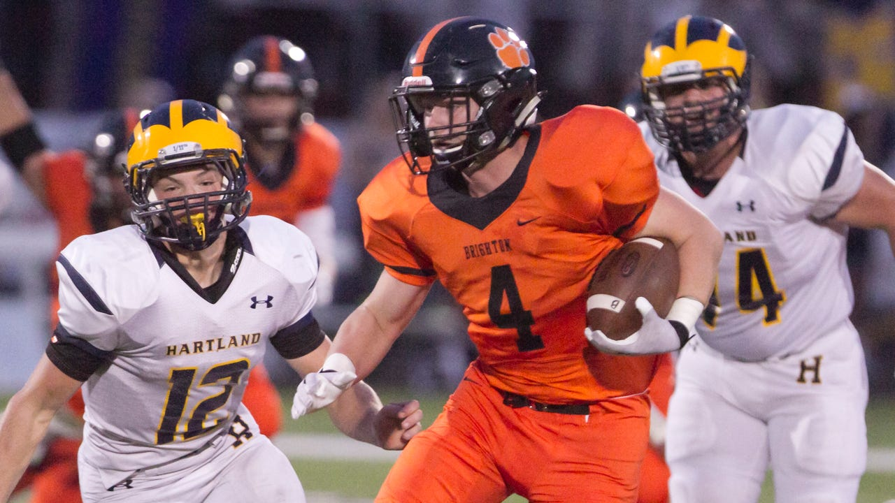 Luke Helwing, Brighton's leading rusher last season, talks about switching to linebacker this season. He's No. 2 on the list of top football players in Livingston County.