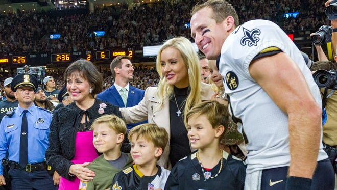 Drew Brees Breaks All-Time Passing Yards Record as The New Orleans Saints take on The Washington Redskins during Monday Night Football at the Mercedes-Benz Superdome. Monday, Oct. 8, 2018.