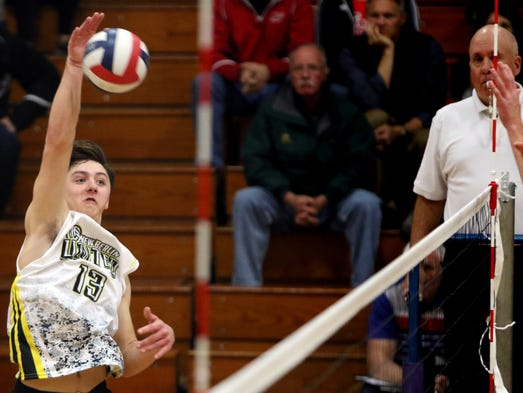 New Berlin United's Zach Just send the ball during
