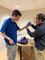 Ben Hack, 19, is enrolled at REED Academy in Oakland NJ, a private school for individuals with autism. As part of REED's Structured Learning Experiences Program (SLE), Ben gets onsite job experience at Valley Hospital in Ridgewood, NJ with his SLE coordinator, Colin Badini.