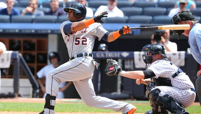 Tigers left fielder Yoenis Cespedes, along with the Padres' Justin Upton, is the best power-hitting outfifelder likely to be traded.