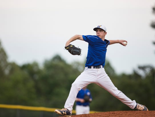 Wren High School's Pitcher Ryan Ammons pitches the