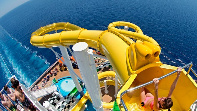 Added during a renovation in 2013, the 334-foot-long Twister water slide on the Carnival Sunshine is the longest ever on a Carnival ship.