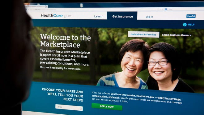 HealthCare.gov insurance exchange website.