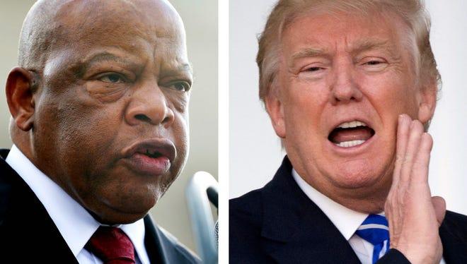 Rep. John Lewis, D-Ga. and President-elect Donald Trump.