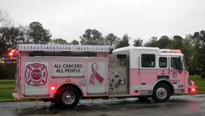 The Pink Fire Trucks from Pink Heals, Inc., are coming to Tradition Square in Port St. Lucie on Saturday, Sept.9, to raise money for a local cancer patient, Francine Brown.