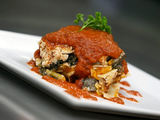 Veggie lasagna is one of the healthy meals from Kitchen Verde.