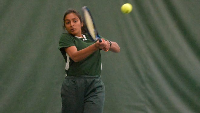 CMR's Gail Parambi plays in the Northern AA Tennis Tournament on Friday at Meadow Lark Country Club.
