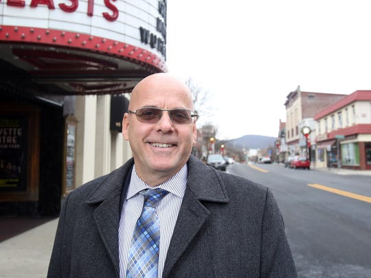 Suffern Mayor Ed Markunas in downtown Suffern on Dec.