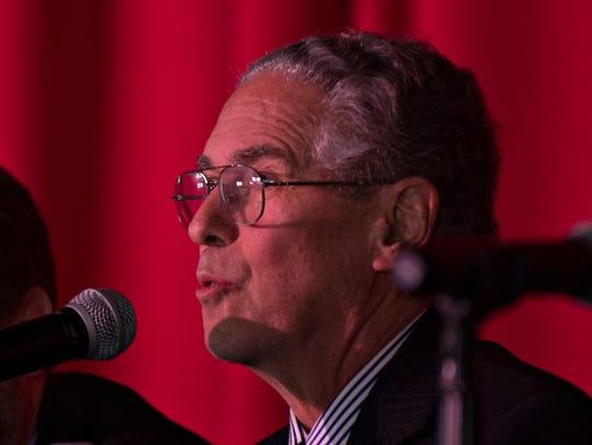 Rabbi Elliot Stevens speaks at about the death penalty