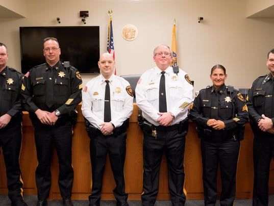 Six officers promoted in Middlesex County PHOTO CAPTION