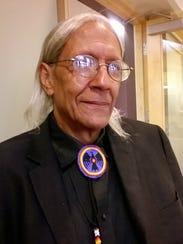 Albert Bender of Nashville is a Cherokee activist,