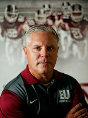 New Evangel University football coach Chuck Hepola