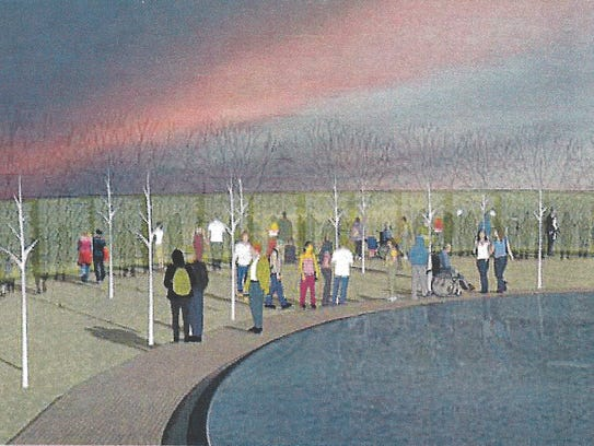 Rendering of the Korean War Wall of Remembrance