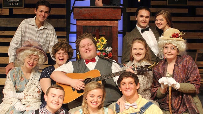 "The cast of Rossview High School's production of ""Smoke on the Mountain."""