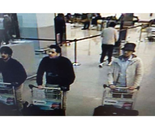 A picture released by the Belgian Federal Police shows