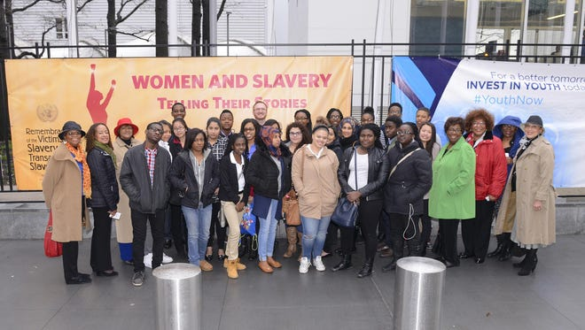 Members of the Westchester County Chapter of The Links, Incorporated escorted a delegation of Woodlands High School Students to the United Nations in March to take part in an international discussion on women and slavery. The students are participants in The Links' International Foreign Affairs and Business Empowerment for Youth (L.I.F.E.) program run by the organization in partnership with the high school.