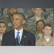 President Obama at MacDill Air Force Base in Tampa addresses ISIS threat.