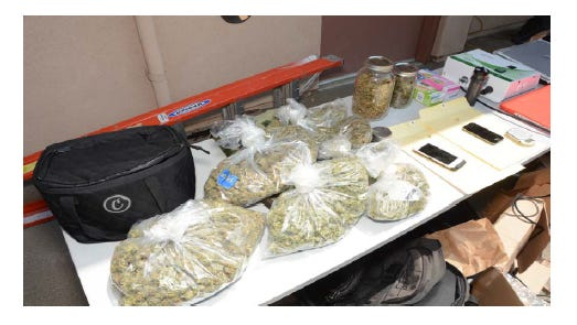 Items found during the search warrants.