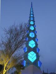 Frank Lloyd Wright originally designed this spire in