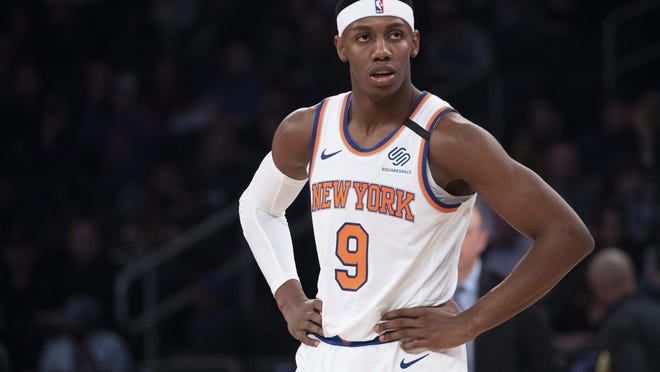 If a proposal to resume play is approved by NBA owners as expected, RJ Barrett and the Knicks' season will be over and the team will begin its search for a new head coach. MARY ALTAFFER/AP