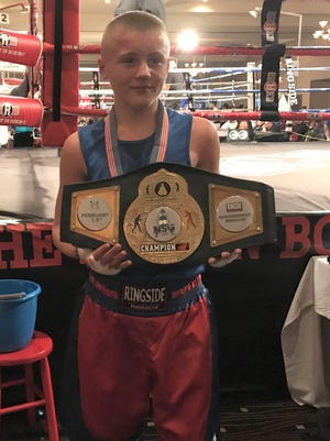 Zanesville PAL's Trey Swartz won the National Silver Gloves on Saturday. Swartz defeated Sonni Martin of Lexington, Nebraska in the 11-12-year-old, 138-pound open division by a unanimous decision.