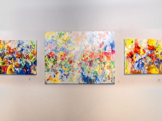 Susan Duke 3 paintings (c) M.C. Rollo