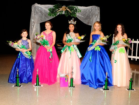 Winners in the Junior Miss 11-12 age group are, from