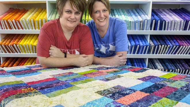 Bondurant's newest business is Off the Rails Quilting supplies store. The co-owners are Jenny Gruenwald and Ann Van Thomme.