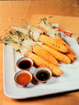 Corn on the cob is an easy vegetable to grill. Try using the husks as handles for easy eating, too.