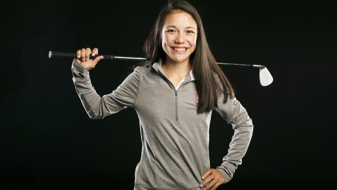 South Salem golf player Ashley Zhu for the Statesman Journal Sports Awards on Friday, April 5, 2017.