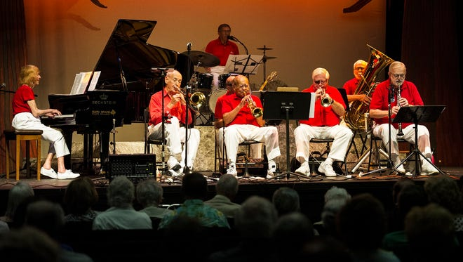 Members of The Naples Jazzmasters perform Dixieland Jazz at The Norris Community Center in Naples, Fla,. on Saturday, July 8, 2017.