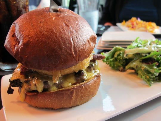 The Warehouse Burger includes ground chuck, shortrib